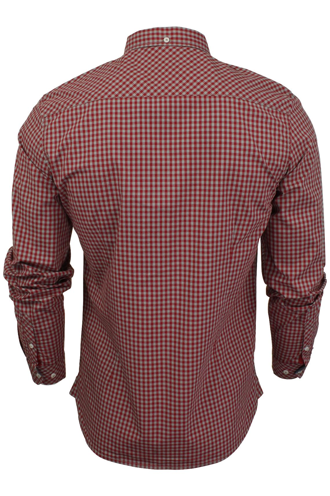 Mens-Gingham-Check-Shirt-by-Tokyo-Laundry-039-Newick-039-Long-Sleeved thumbnail 11