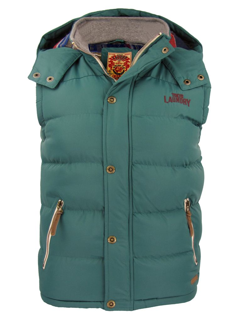 mens bodywarmer gilet coat by tokyo laundry 39 kyber two 39 ebay. Black Bedroom Furniture Sets. Home Design Ideas