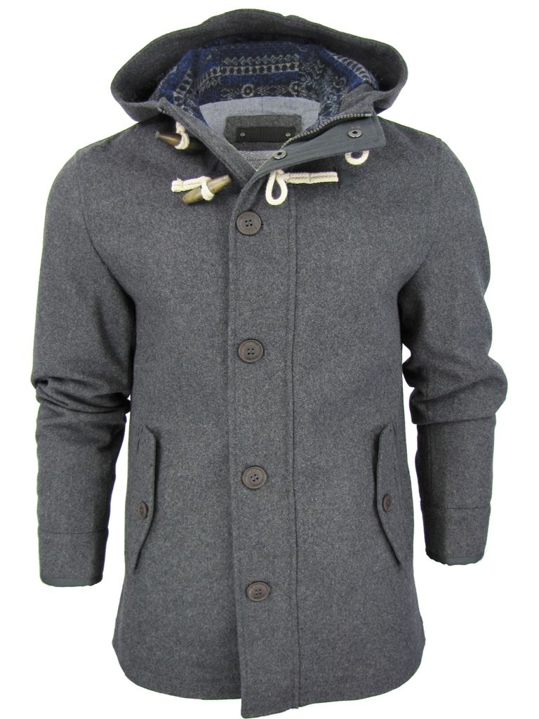 code Jacket Hoodie D 'wolcot' Mens Marl Aztec Fashion Charcoal Wool Lined wqxEB