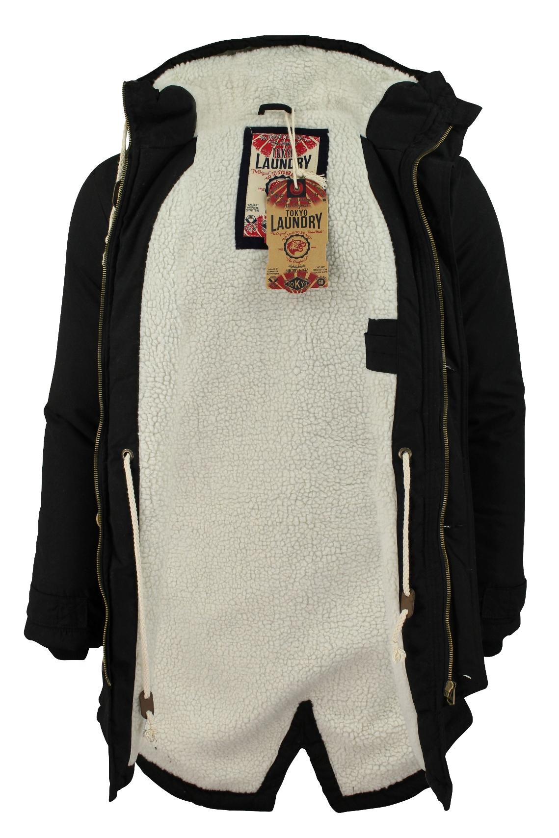 Mens Parka Jacket Tokyo Laundry  Braxton  Fishtail Snorkel Hoodie ... 518ed79a804