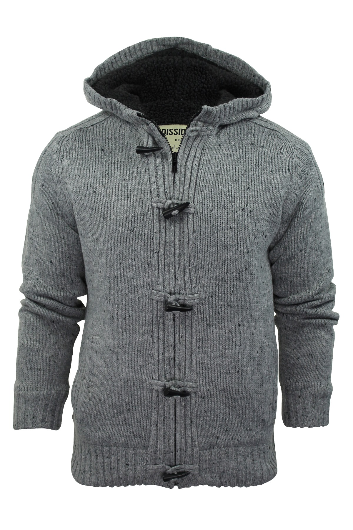 Mens Jumper Cardigan Dissident Hoodie 'Hopkins' Nep Warm Sherpa ...