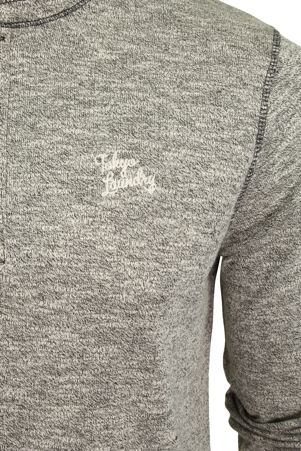 Mens-Long-Sleeve-Grandad-T-Shirt-by-Tokyo-Laundry-039-Roosevelt-039-Siro-Slub-Jersey thumbnail 7