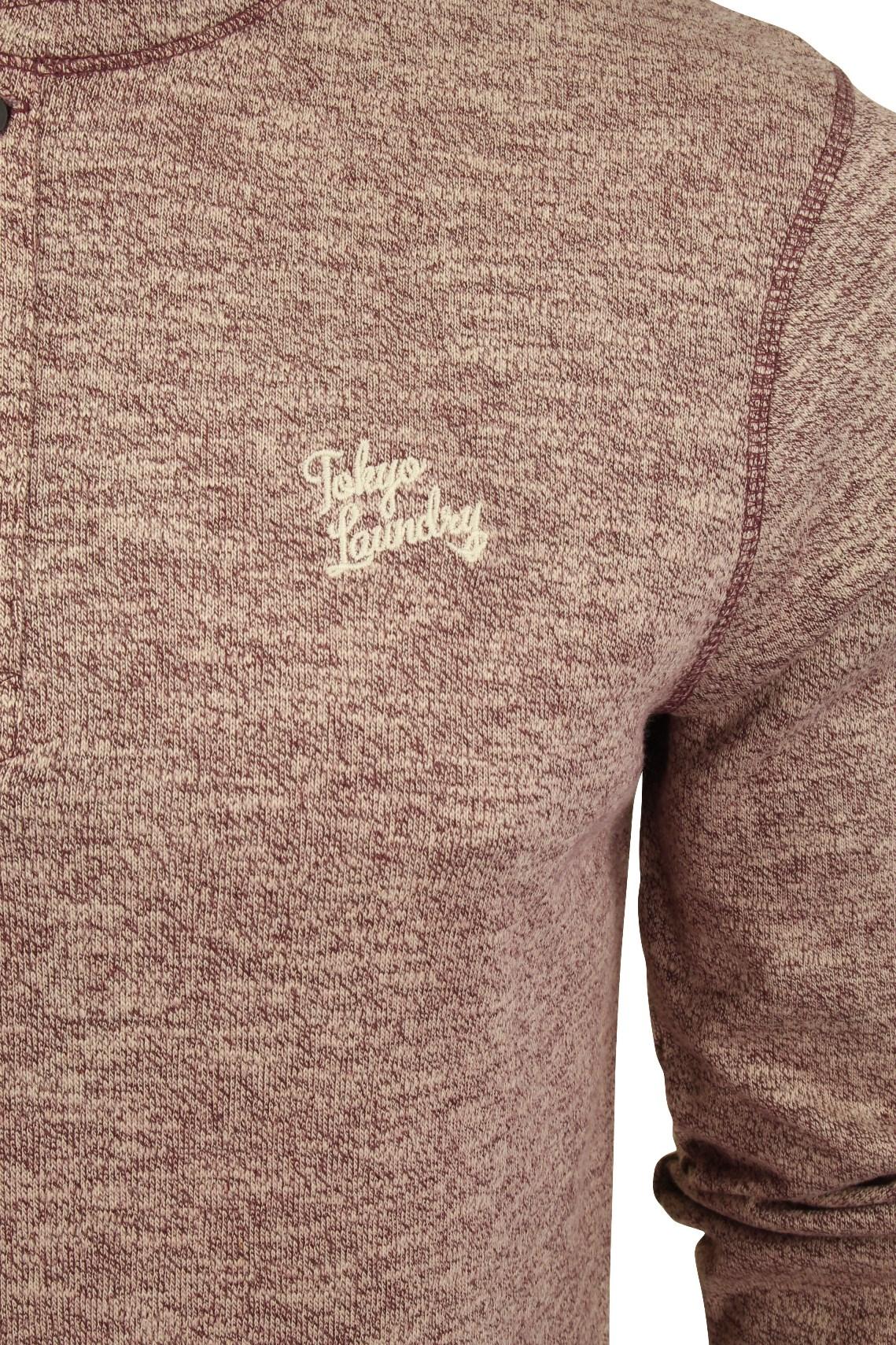 Mens-Long-Sleeve-Grandad-T-Shirt-by-Tokyo-Laundry-039-Roosevelt-039-Siro-Slub-Jersey thumbnail 10