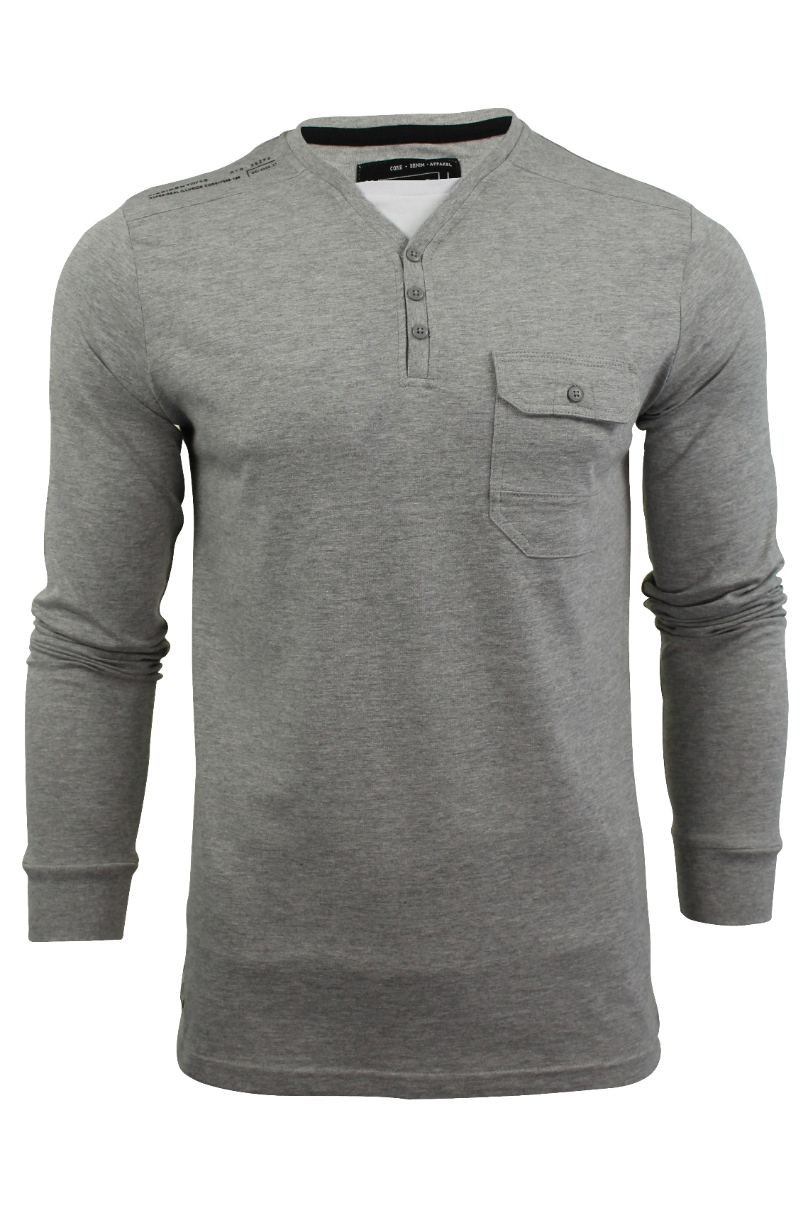 Mens-Long-Sleeved-Y-Neck-T-Shirt-by-Dissident-039-Whyer-039