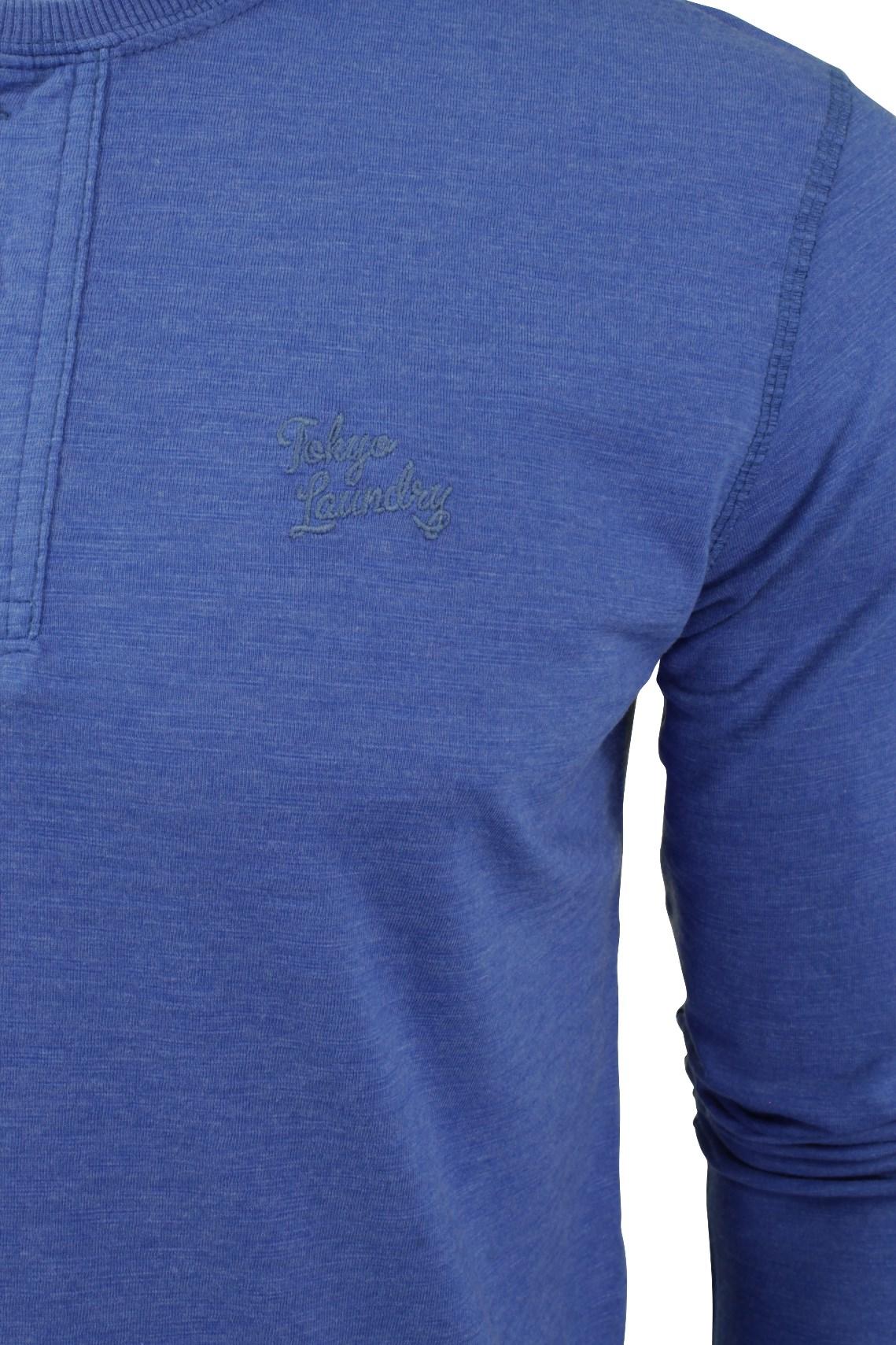 Mens-Grandad-T-Shirt-by-Tokyo-Laundry-039-Lawton-Cove-039-Long-Sleeved thumbnail 4