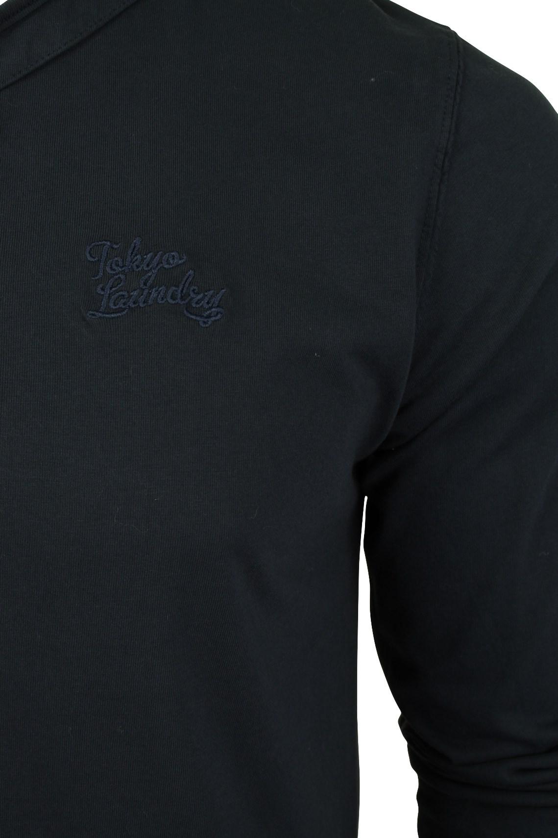 Mens-Grandad-T-Shirt-by-Tokyo-Laundry-039-Winter-Pines-039-Long-Sleeved thumbnail 4