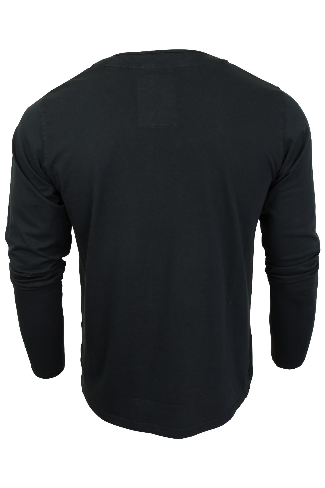 Mens-Grandad-T-Shirt-by-Tokyo-Laundry-039-Winter-Pines-039-Long-Sleeved thumbnail 5