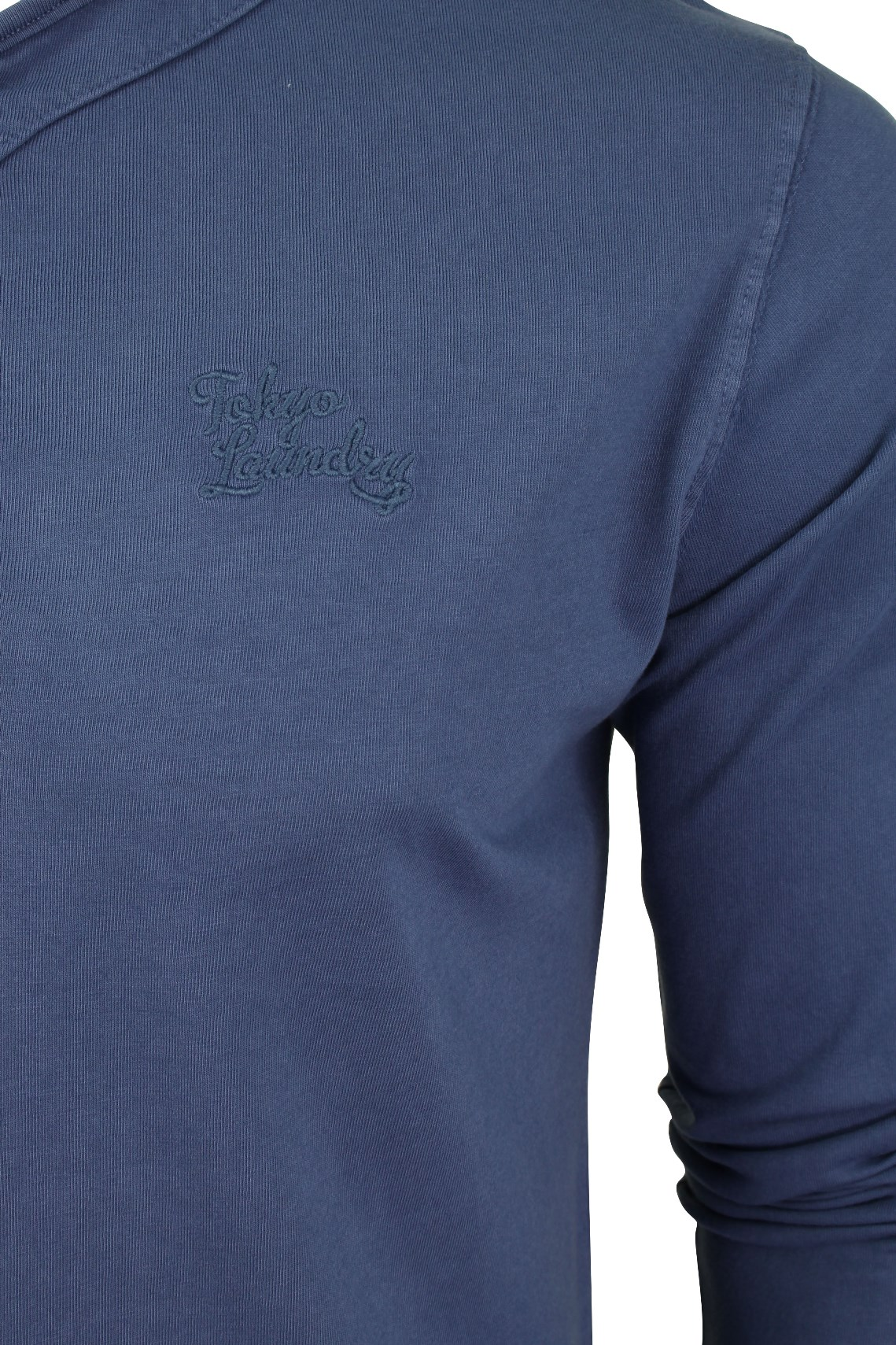 Mens-Grandad-T-Shirt-by-Tokyo-Laundry-039-Winter-Pines-039-Long-Sleeved thumbnail 7