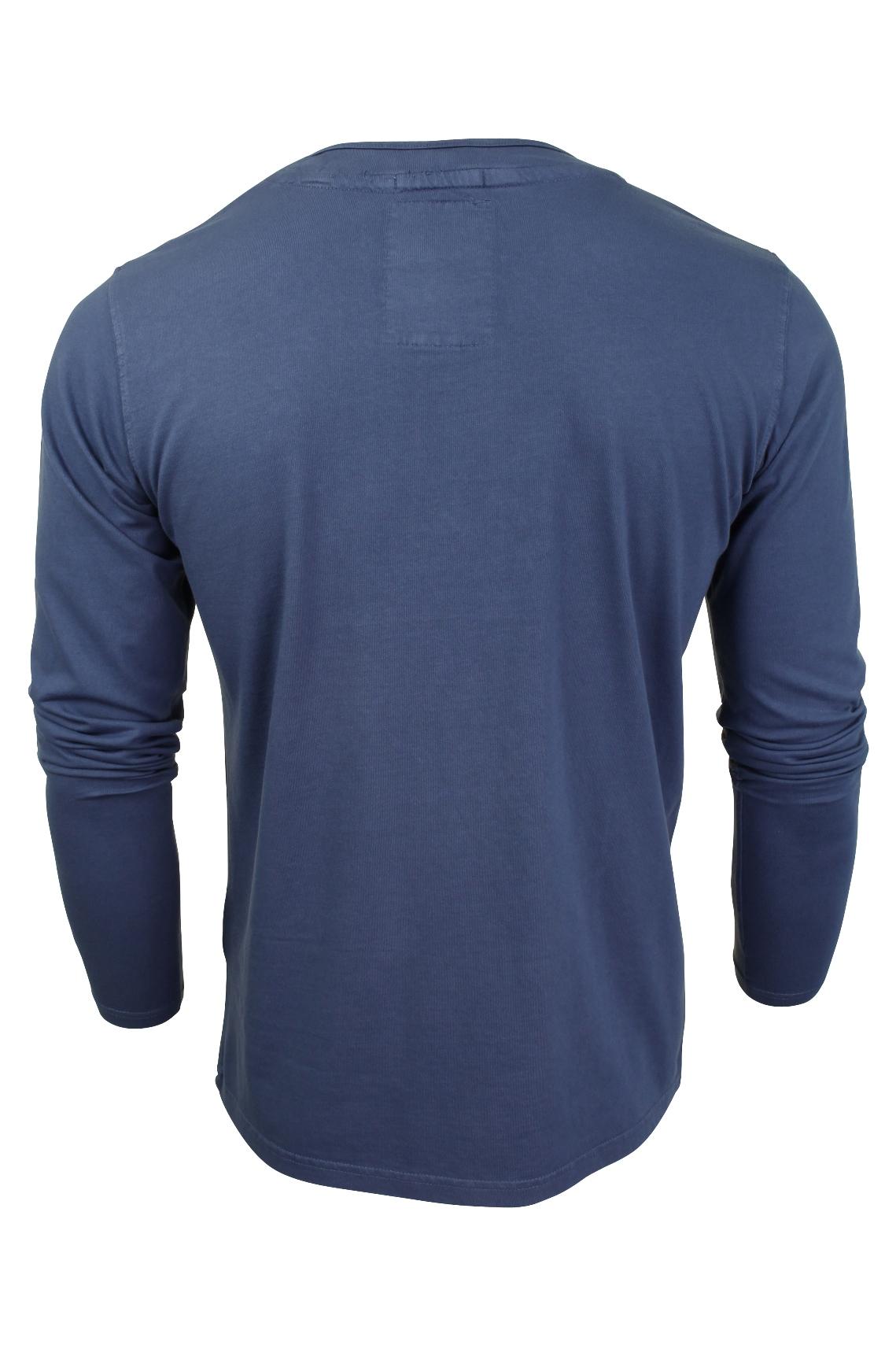 Mens-Grandad-T-Shirt-by-Tokyo-Laundry-039-Winter-Pines-039-Long-Sleeved thumbnail 8
