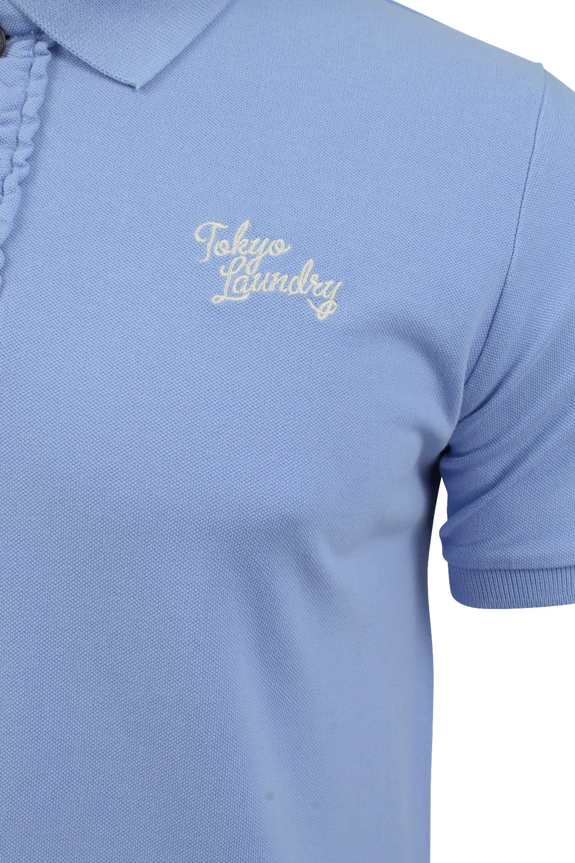 Tokyo-Laundry-Mens-Polo-T-Shirt-039-Sophomore-039-Short-Sleeved-Chest-Logo