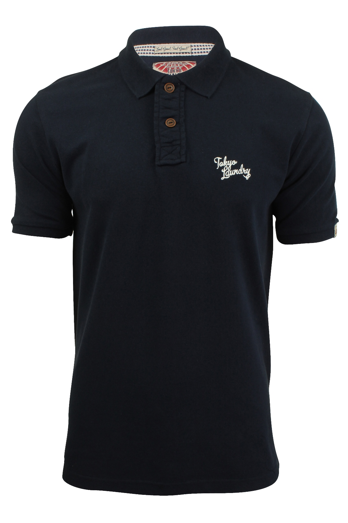 Mens pique polo t shirt by tokyo laundry short sleeved for Mens collared t shirts