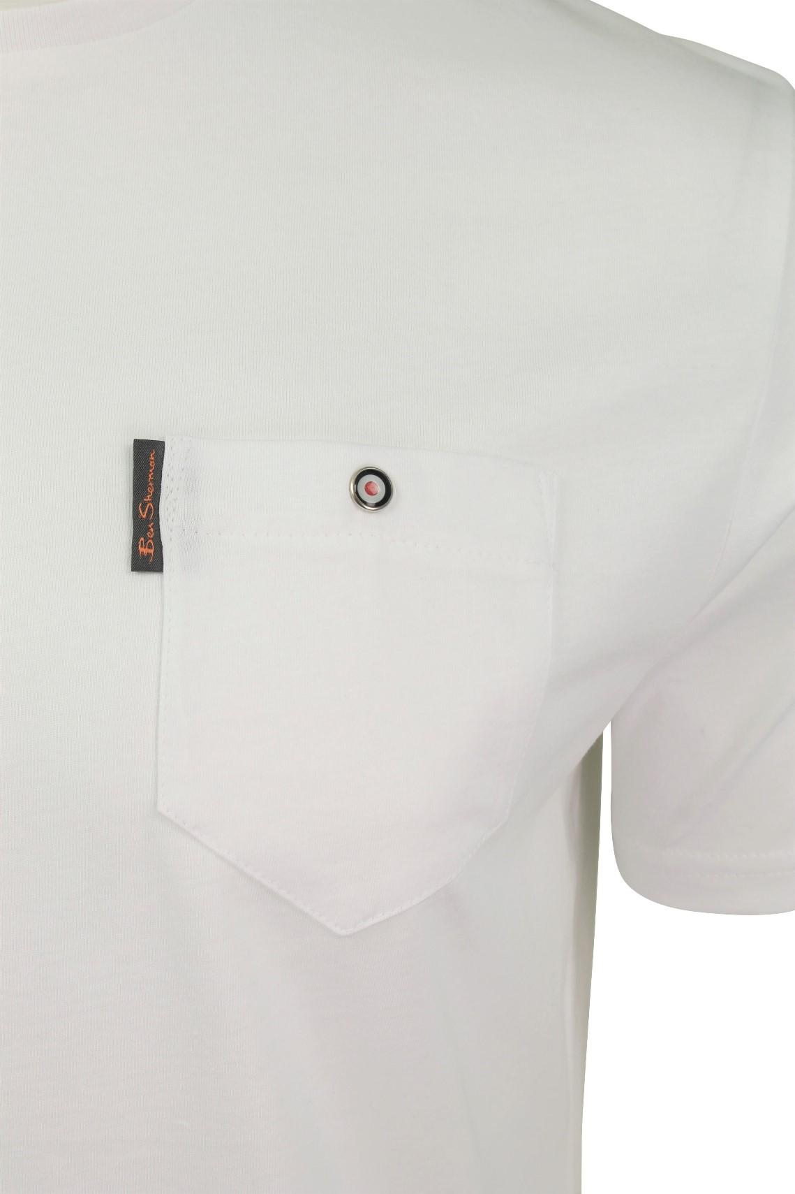 Para-Hombre-Clasico-Pala-Bolsillo-Camiseta-Por-Ben-Sherman miniatura 36