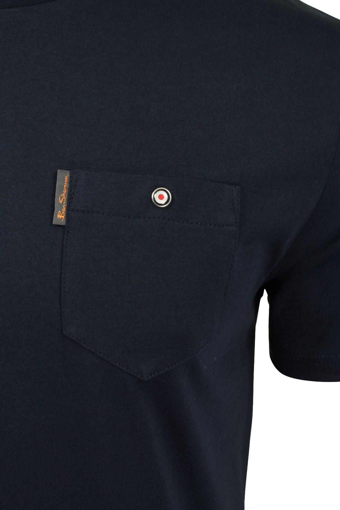 Para-Hombre-Clasico-Pala-Bolsillo-Camiseta-Por-Ben-Sherman miniatura 27