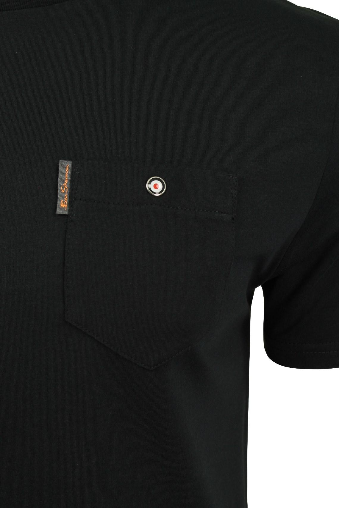 Para-Hombre-Clasico-Pala-Bolsillo-Camiseta-Por-Ben-Sherman miniatura 4