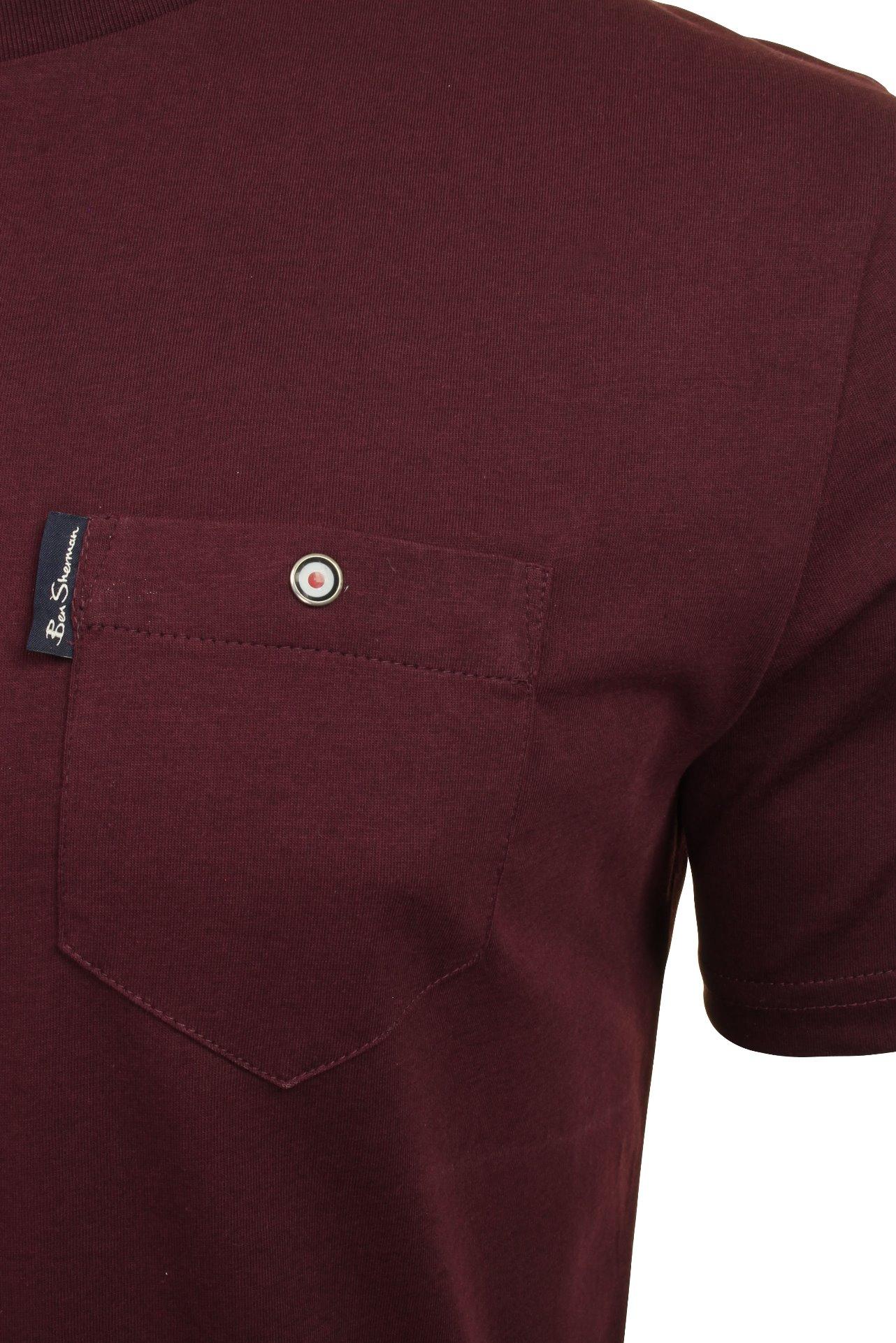 Para-Hombre-Clasico-Pala-Bolsillo-Camiseta-Por-Ben-Sherman miniatura 7