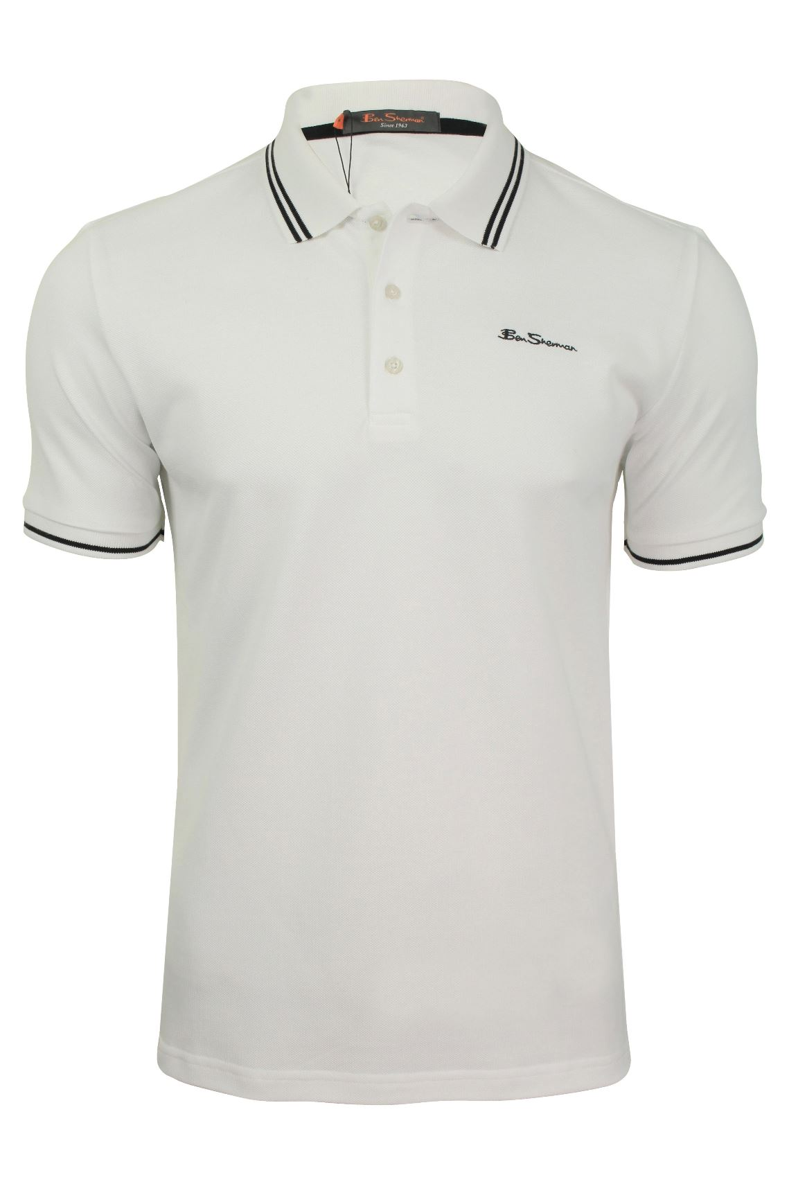 33400100 Mens Tipped Pique Polo Shirt by Ben Sherman | eBay