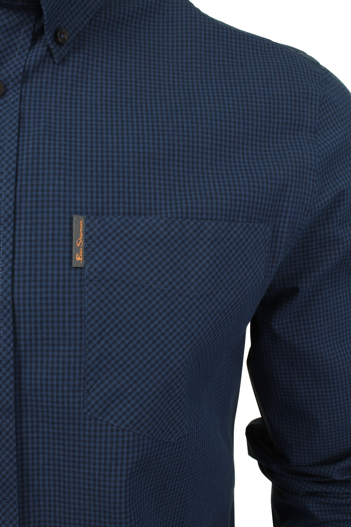 Mens-Classic-Gingham-Shirt-by-Ben-Sherman-Long-Sleeved thumbnail 7
