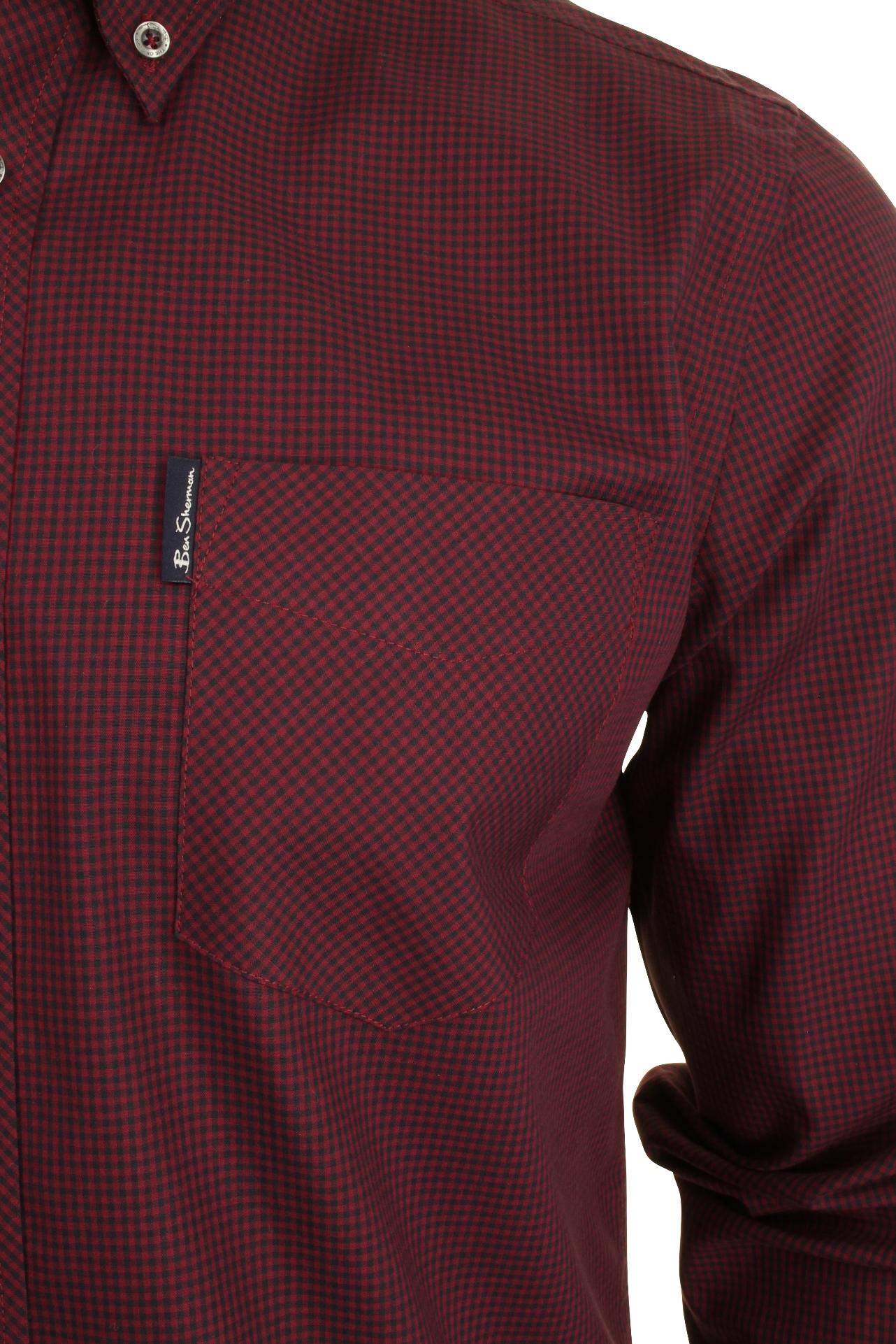 Mens-Classic-Gingham-Shirt-by-Ben-Sherman-Long-Sleeved thumbnail 10