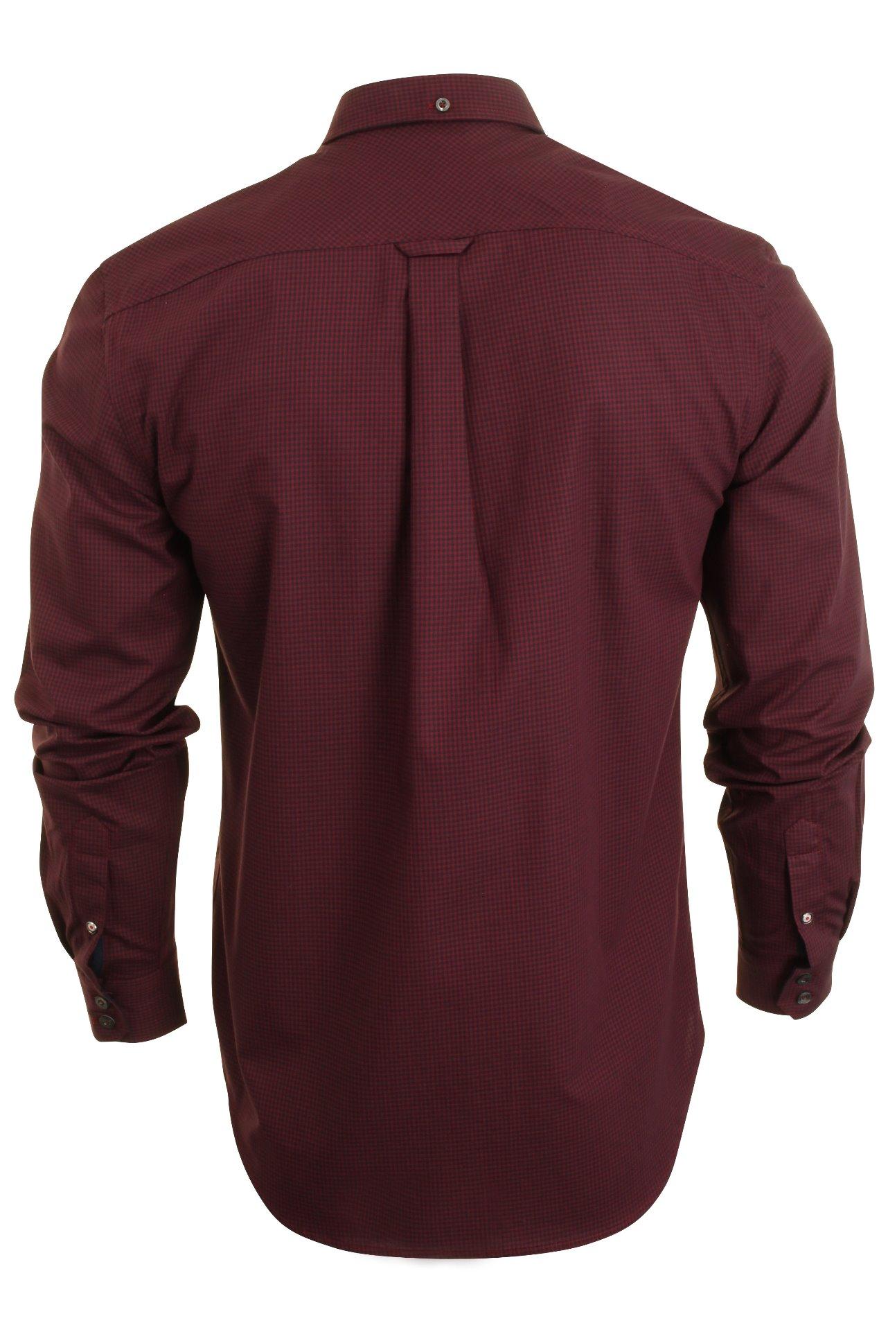 Mens-Classic-Gingham-Shirt-by-Ben-Sherman-Long-Sleeved thumbnail 11