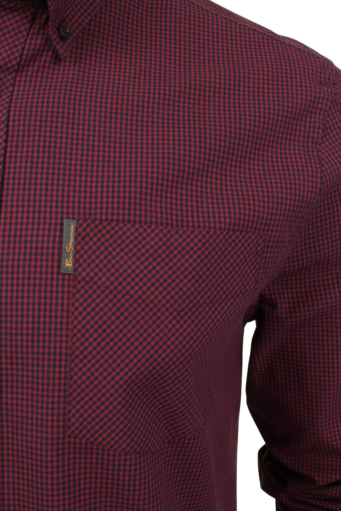 Mens-Classic-Gingham-Shirt-by-Ben-Sherman-Long-Sleeved thumbnail 13