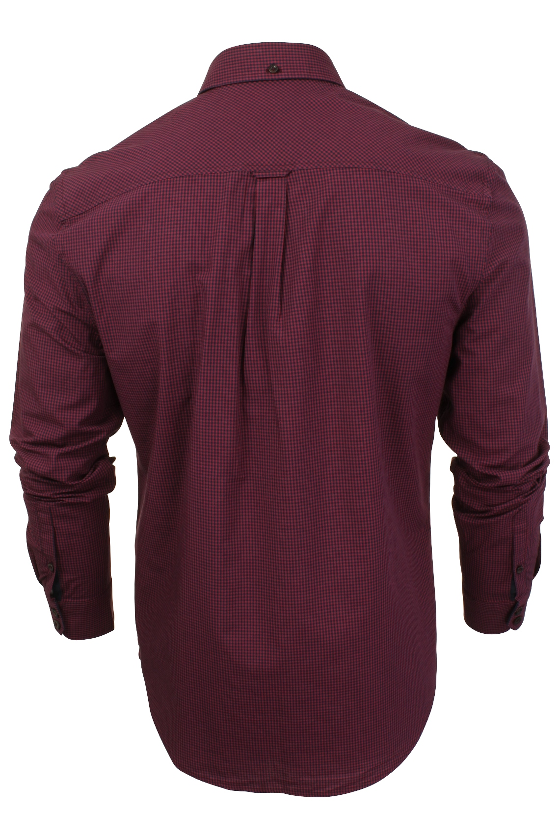 Mens-Classic-Gingham-Shirt-by-Ben-Sherman-Long-Sleeved thumbnail 14
