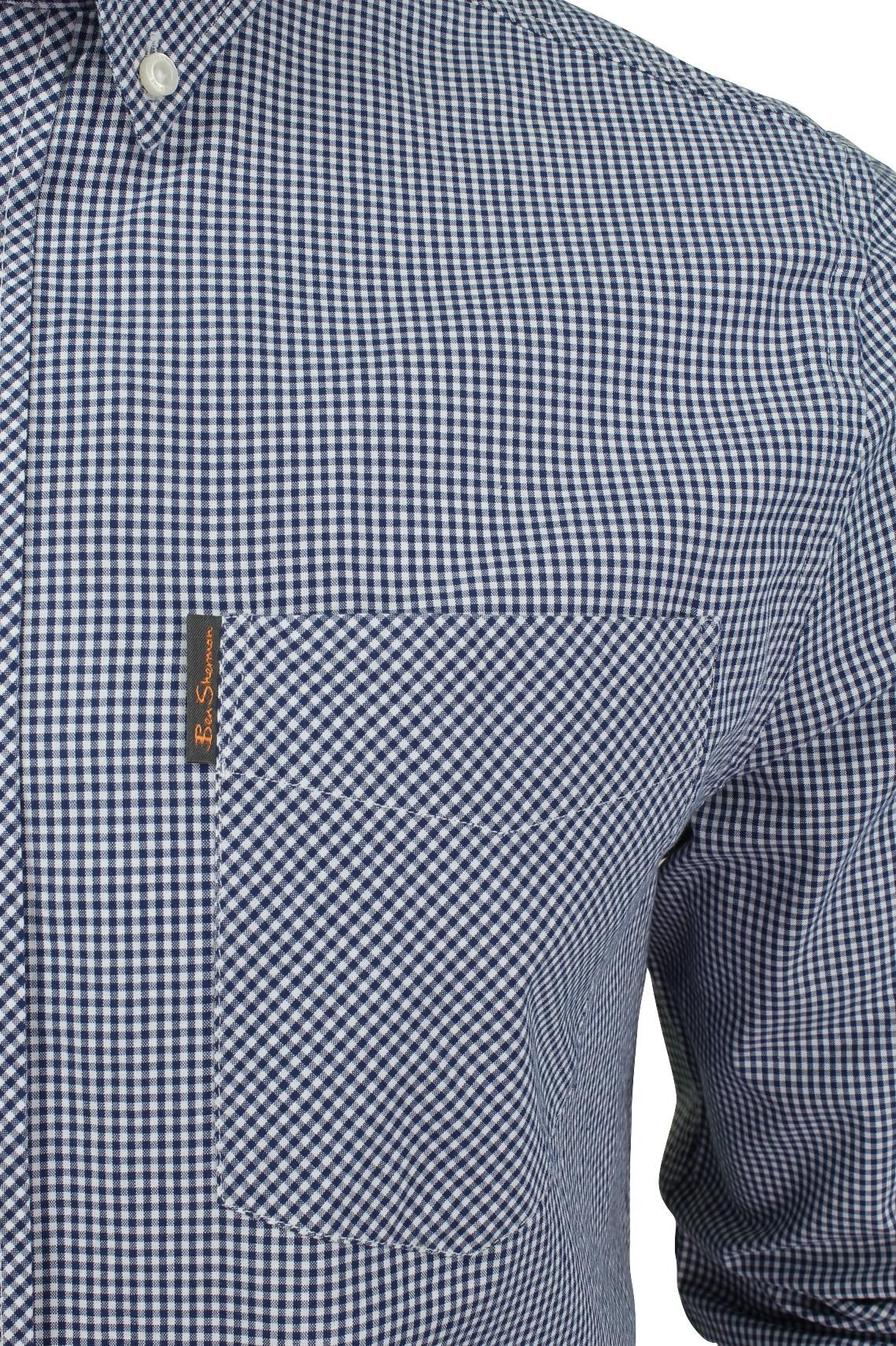 Mens-Classic-Gingham-Shirt-by-Ben-Sherman-Long-Sleeved thumbnail 4
