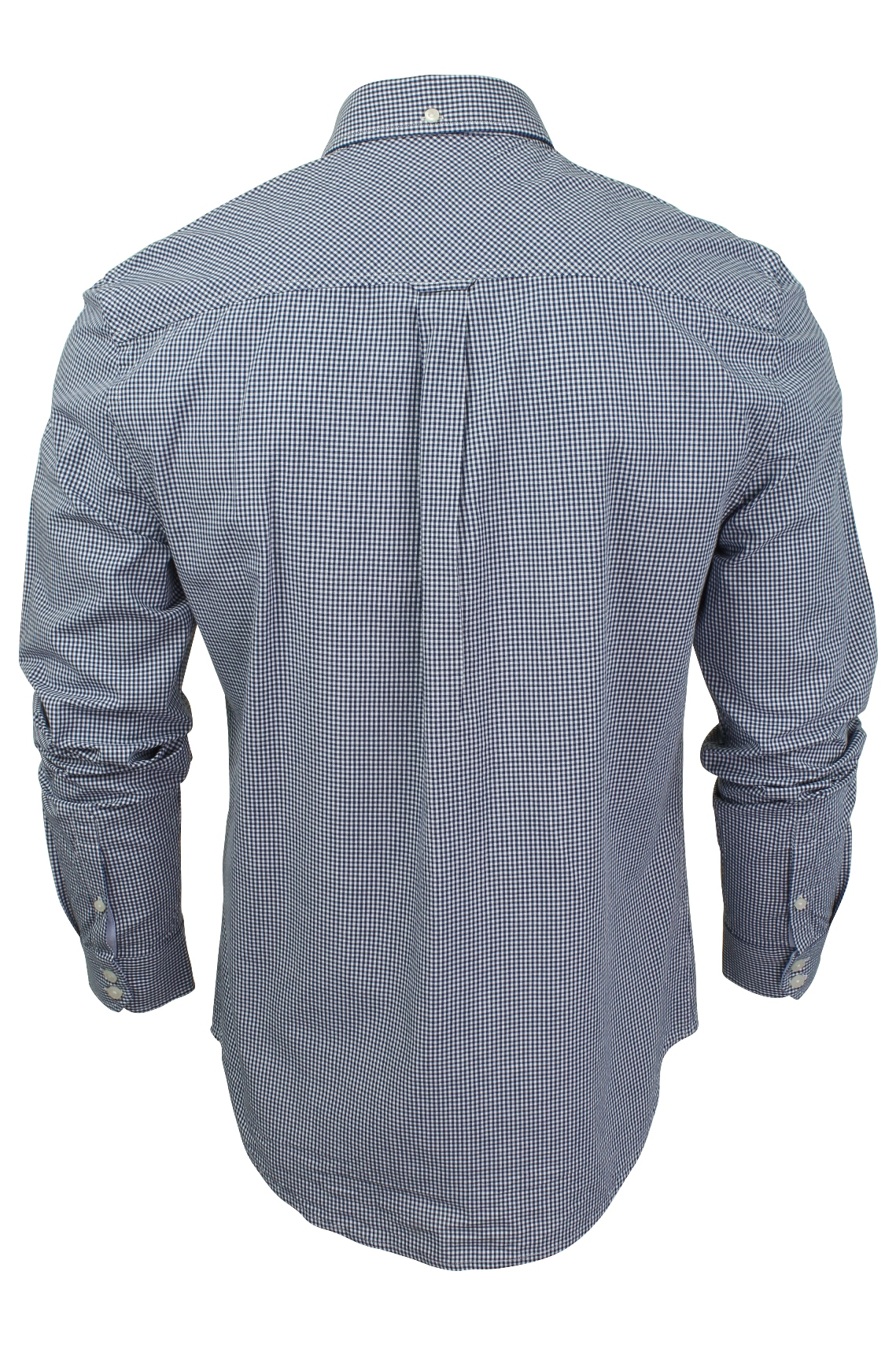Mens-Classic-Gingham-Shirt-by-Ben-Sherman-Long-Sleeved thumbnail 5
