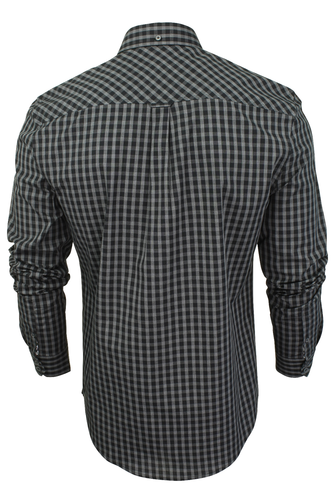 Mens-Windowpane-Check-Shirt-by-Ben-Sherman-Long-Sleeved thumbnail 8