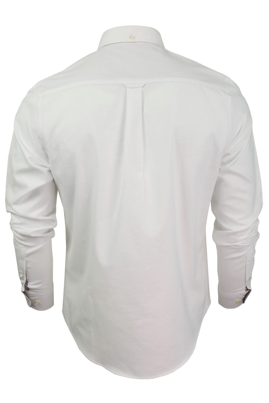 Mens-Oxford-Shirt-by-Ben-Sherman-Long-Sleeved miniatuur 28