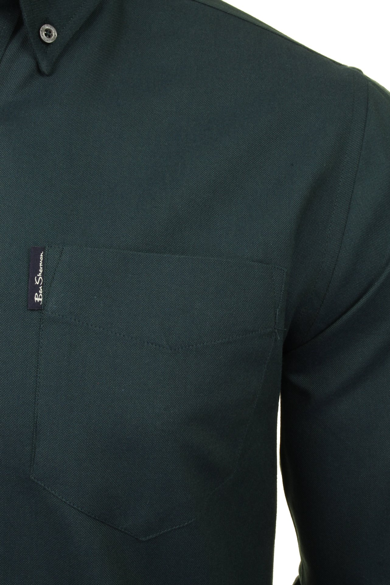 Mens-Oxford-Shirt-by-Ben-Sherman-Long-Sleeved miniatuur 24