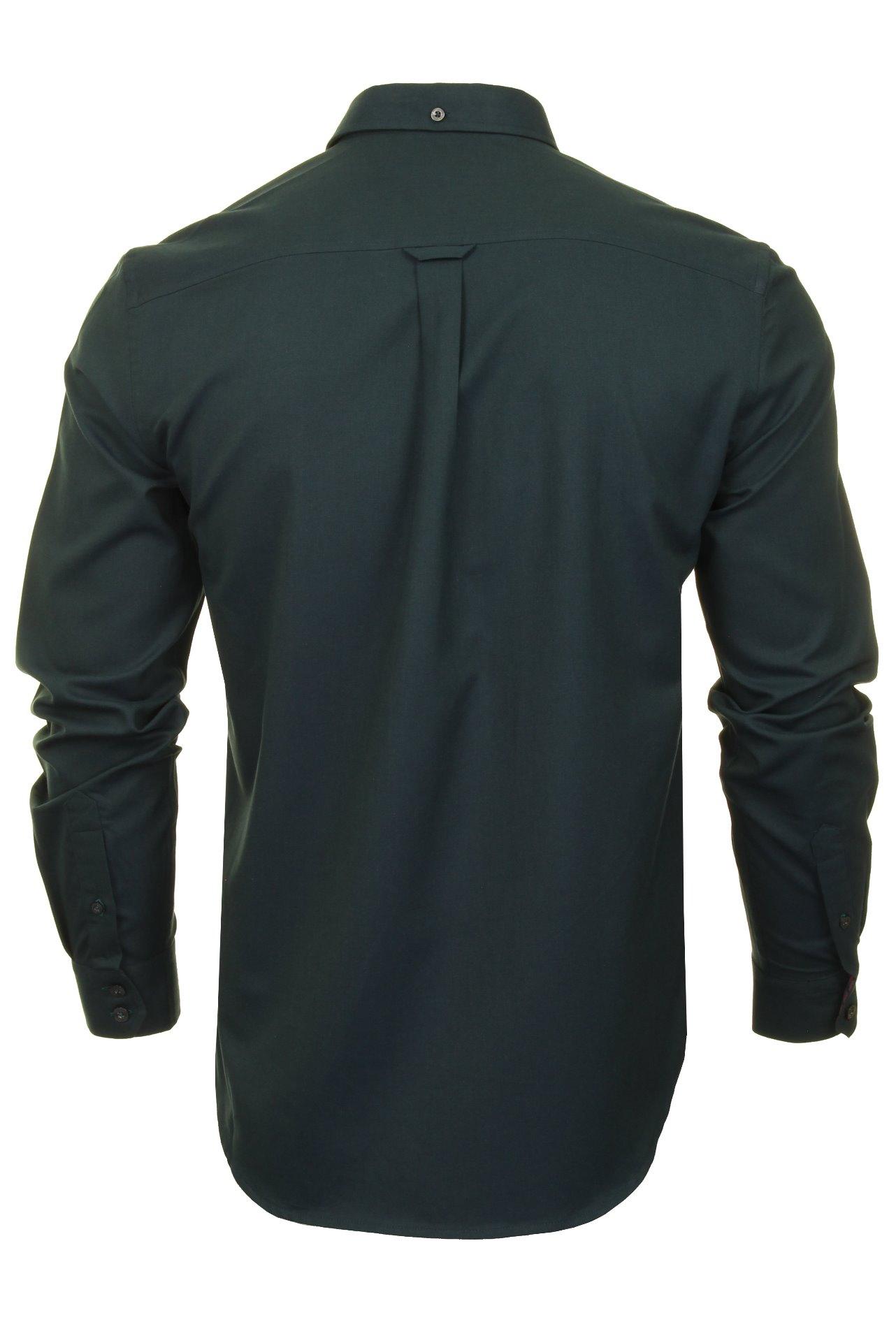 Mens-Oxford-Shirt-by-Ben-Sherman-Long-Sleeved miniatuur 25