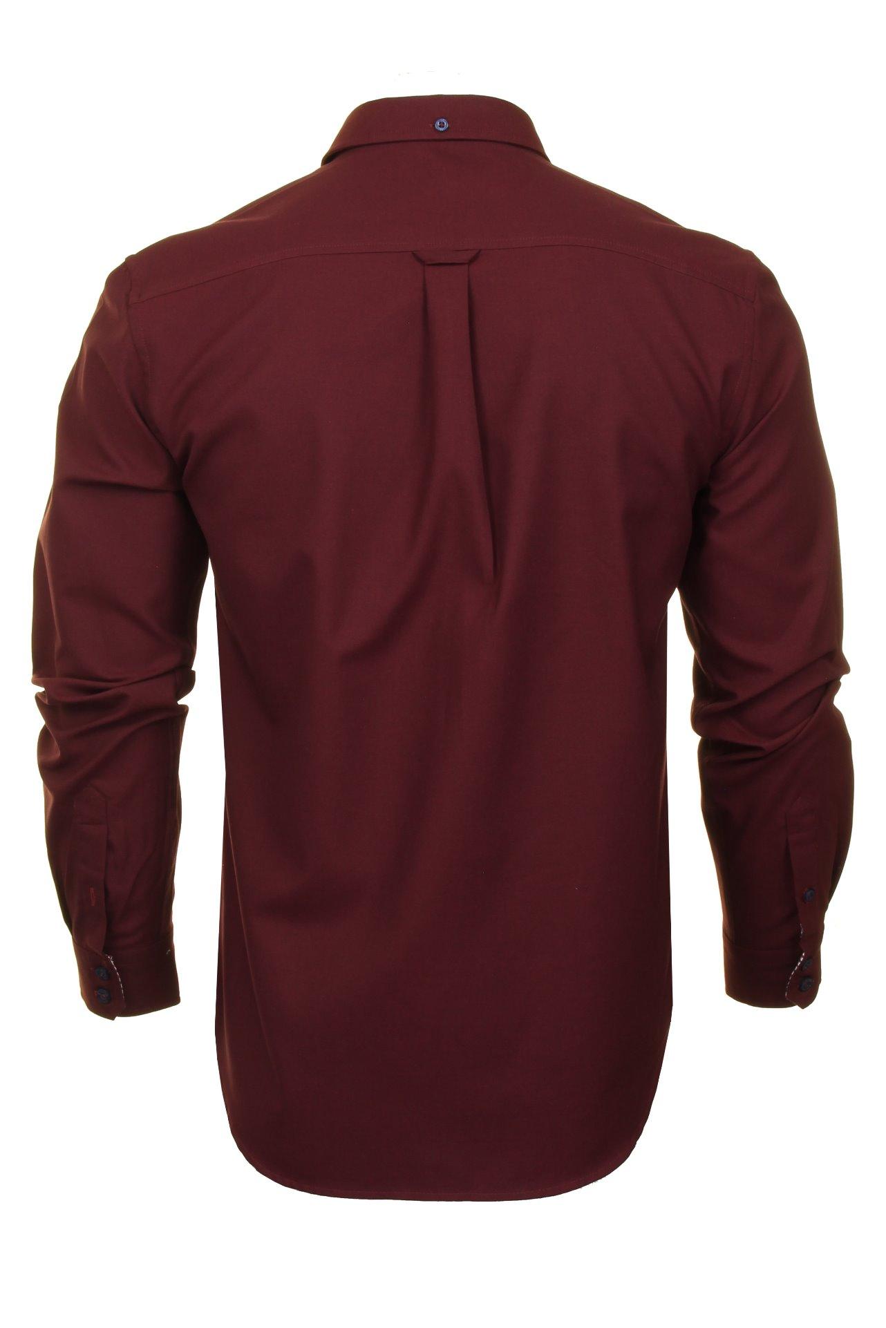Mens-Oxford-Shirt-by-Ben-Sherman-Long-Sleeved miniatuur 10