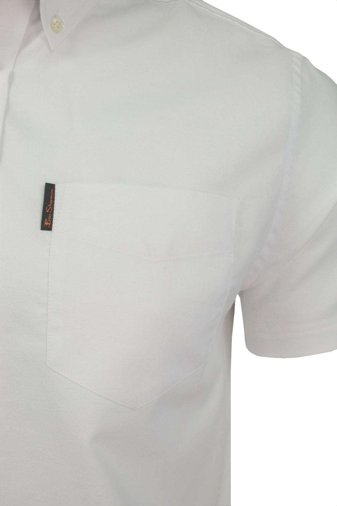 Ben-Sherman-Da-Uomo-Camicia-Oxford-Manica-Corta miniatura 42