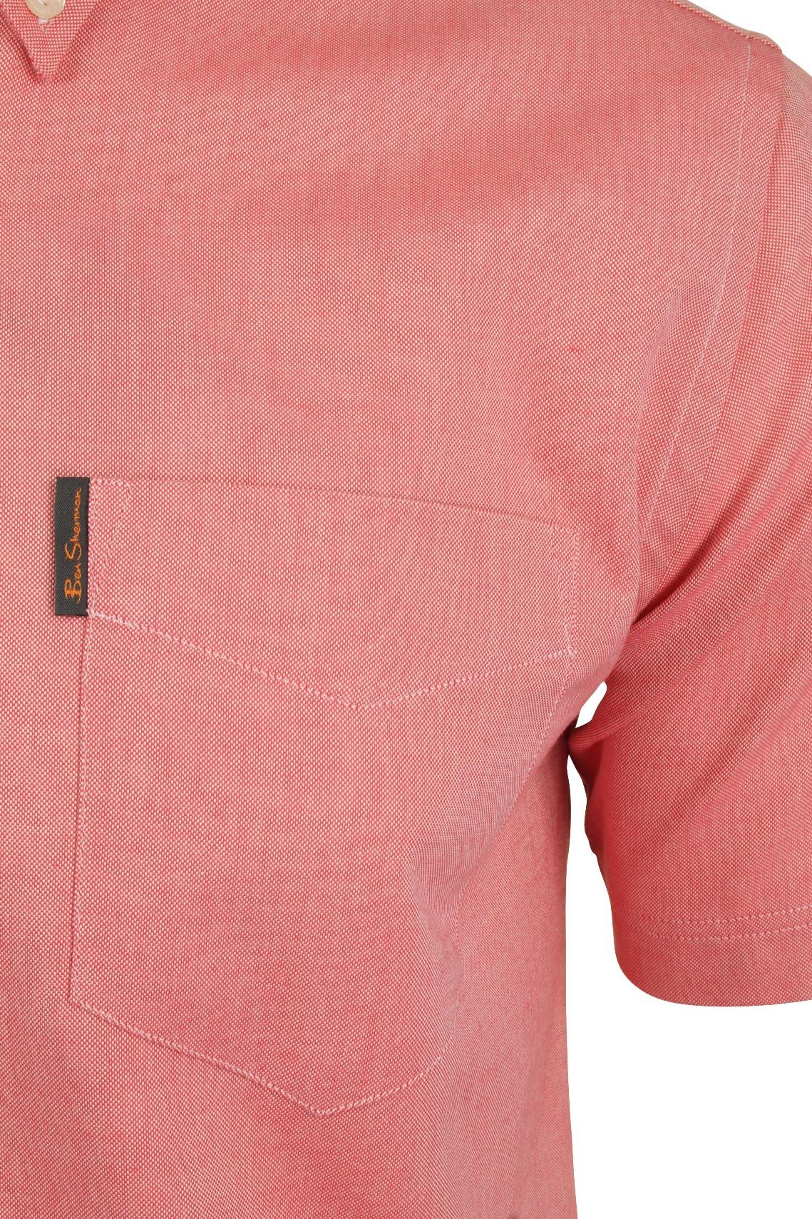 Ben-Sherman-Mens-Oxford-Shirt-Short-Sleeve thumbnail 14