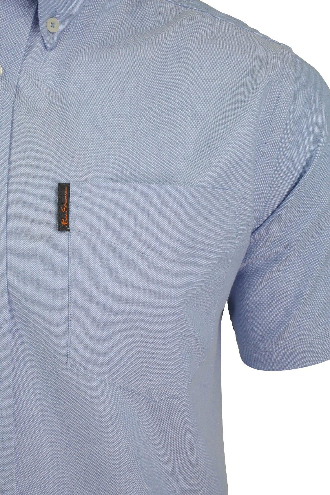 Ben-Sherman-Mens-Oxford-Shirt-Short-Sleeve thumbnail 25