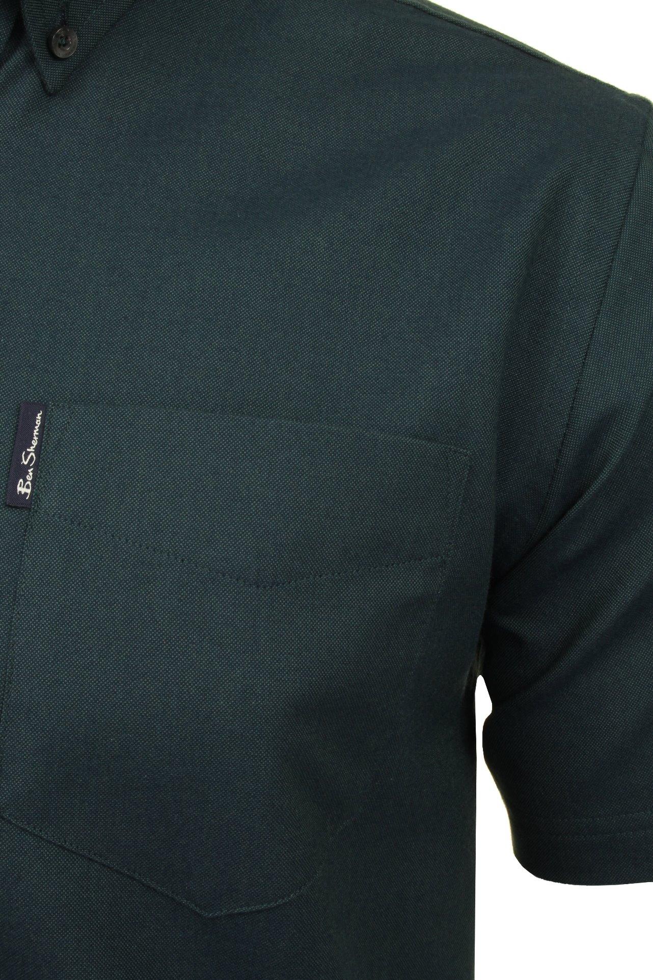 Ben-Sherman-Da-Uomo-Camicia-Oxford-Manica-Corta miniatura 39
