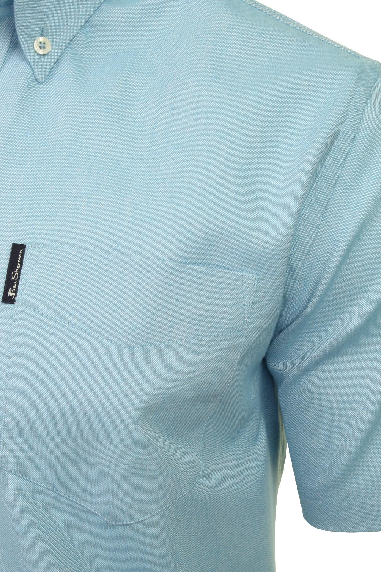 Ben-Sherman-Da-Uomo-Camicia-Oxford-Manica-Corta miniatura 22