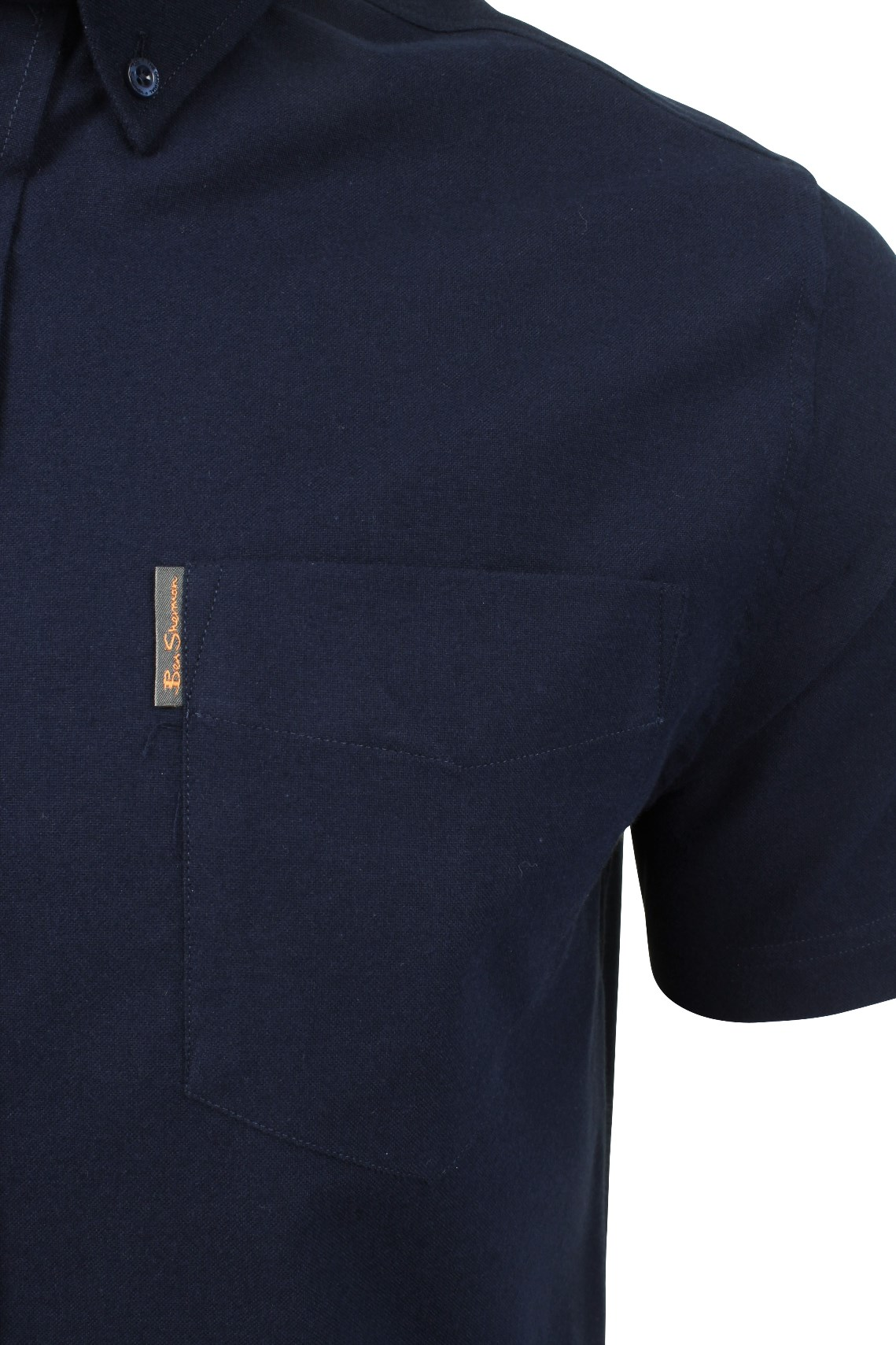 Ben-Sherman-Da-Uomo-Camicia-Oxford-Manica-Corta miniatura 28