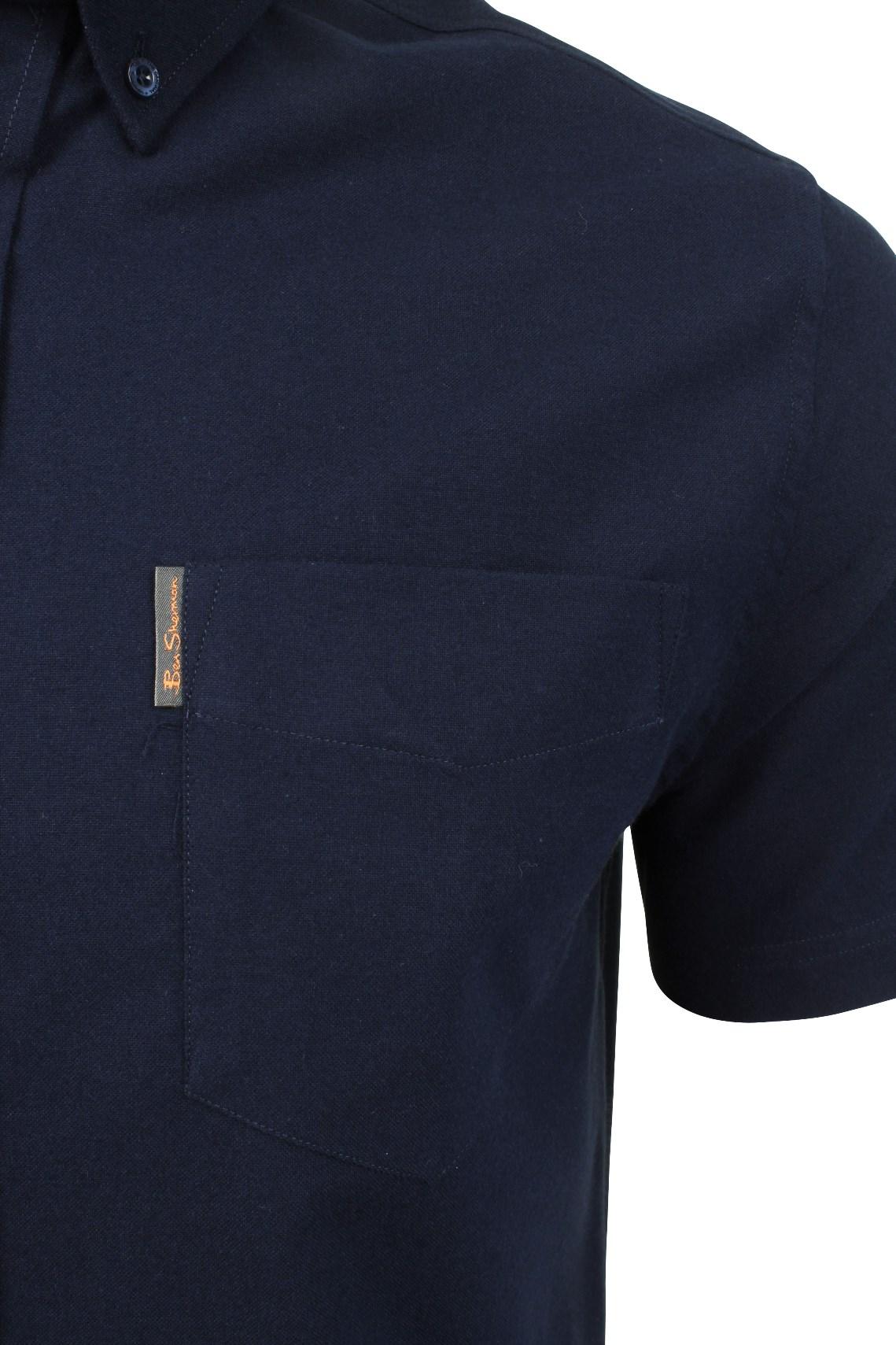Ben-Sherman-Mens-Oxford-Shirt-Short-Sleeve thumbnail 28