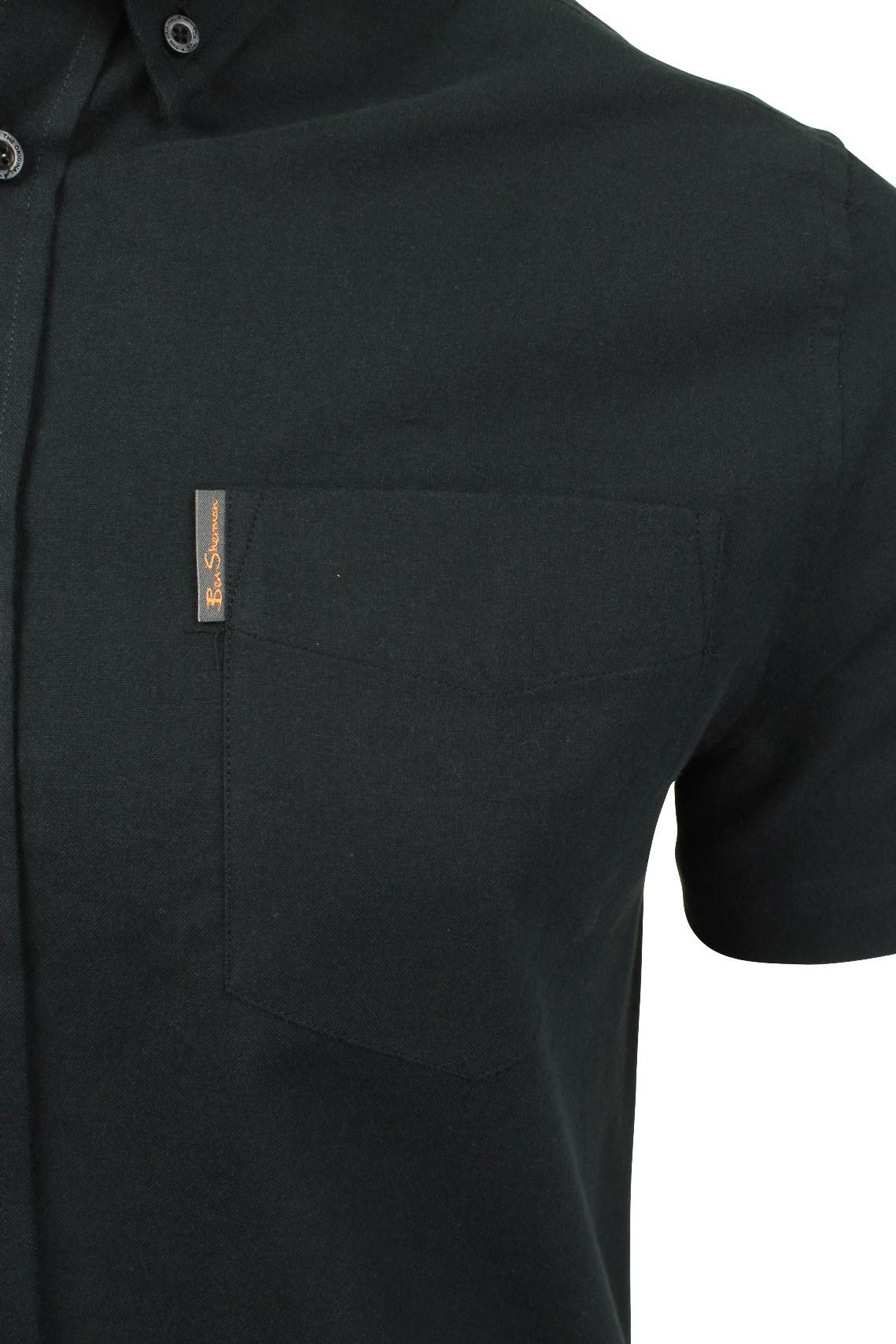 Ben-Sherman-Mens-Oxford-Shirt-Short-Sleeve thumbnail 4