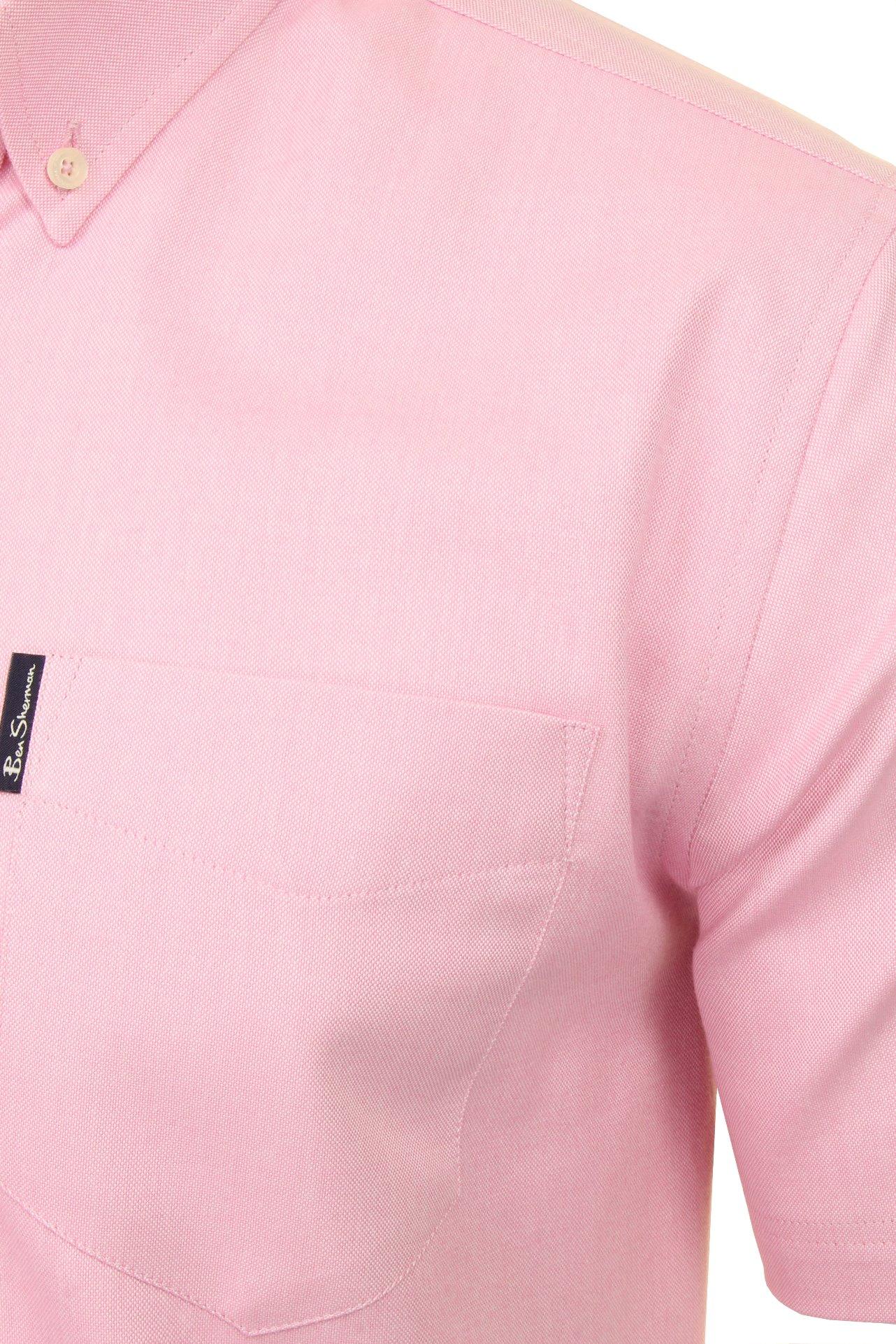 Ben-Sherman-Da-Uomo-Camicia-Oxford-Manica-Corta miniatura 31