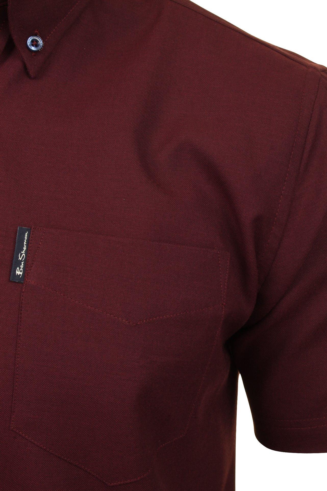 Ben-Sherman-Mens-Oxford-Shirt-Short-Sleeve thumbnail 11