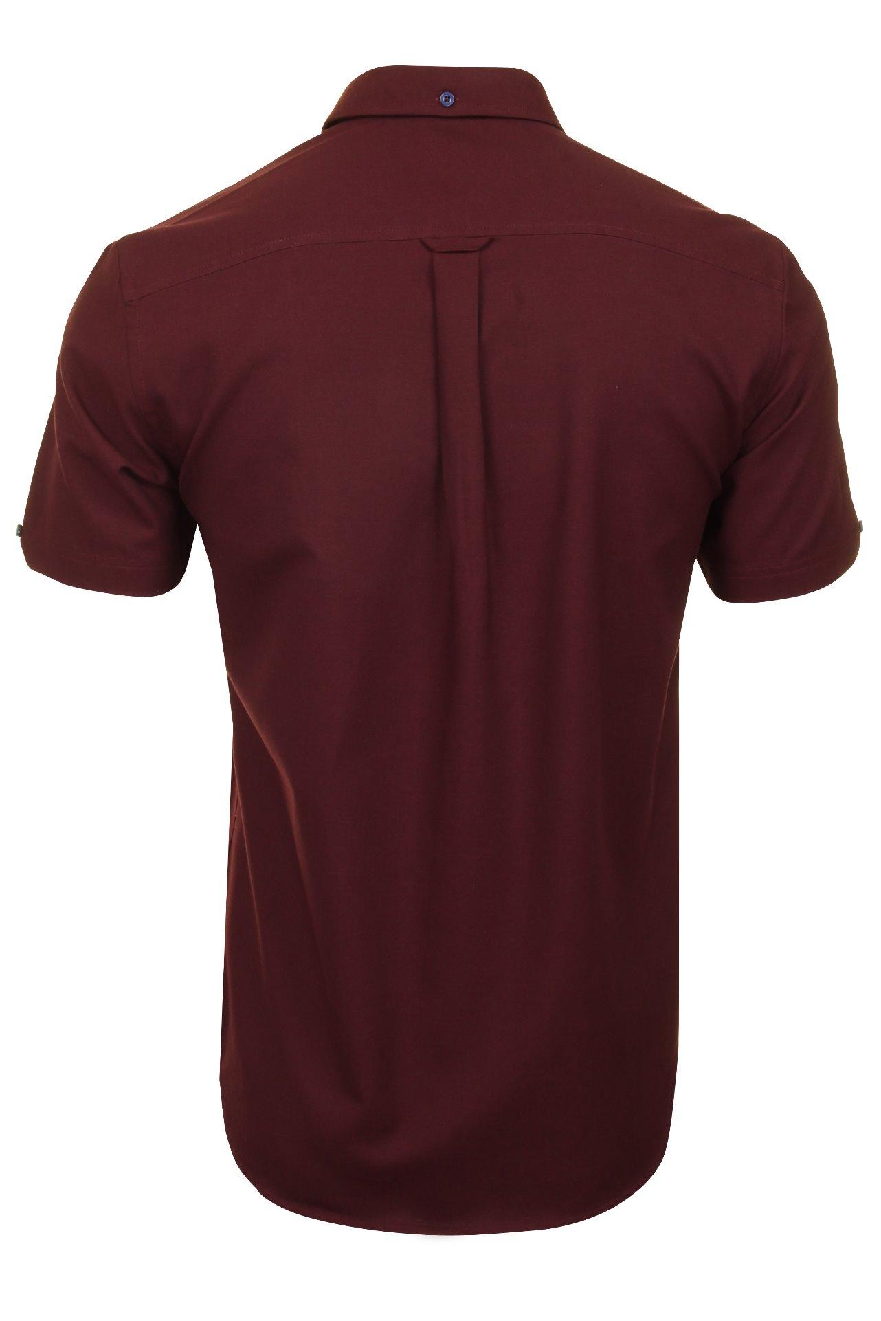 Ben-Sherman-Mens-Oxford-Shirt-Short-Sleeve thumbnail 12