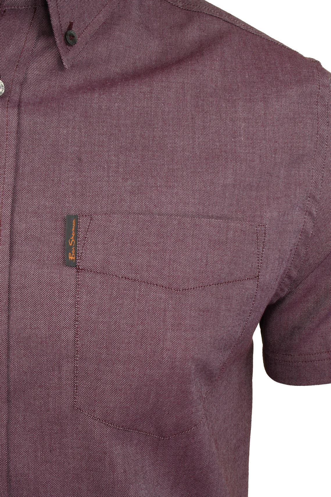 Ben-Sherman-Mens-Oxford-Shirt-Short-Sleeve thumbnail 50