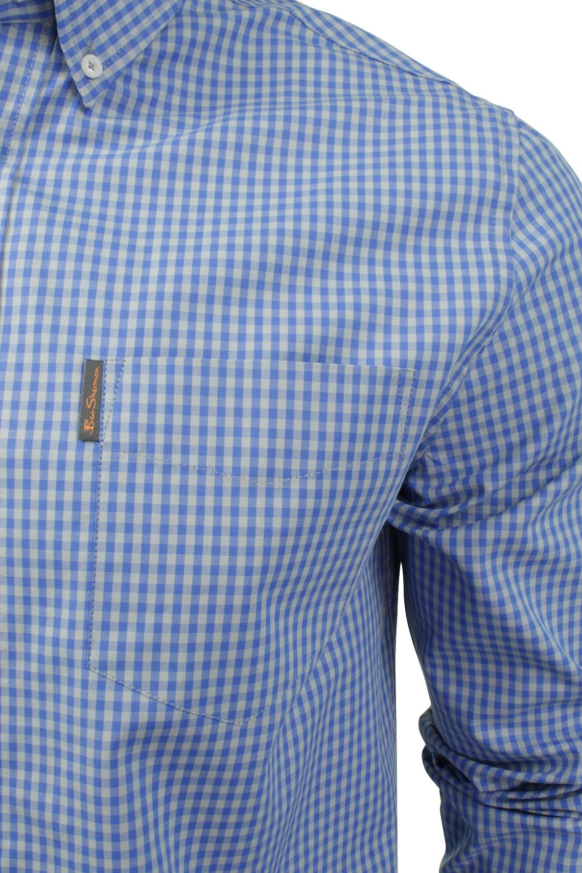 Mens Gingham Check Shirt by Ben Sherman Long Sleeved