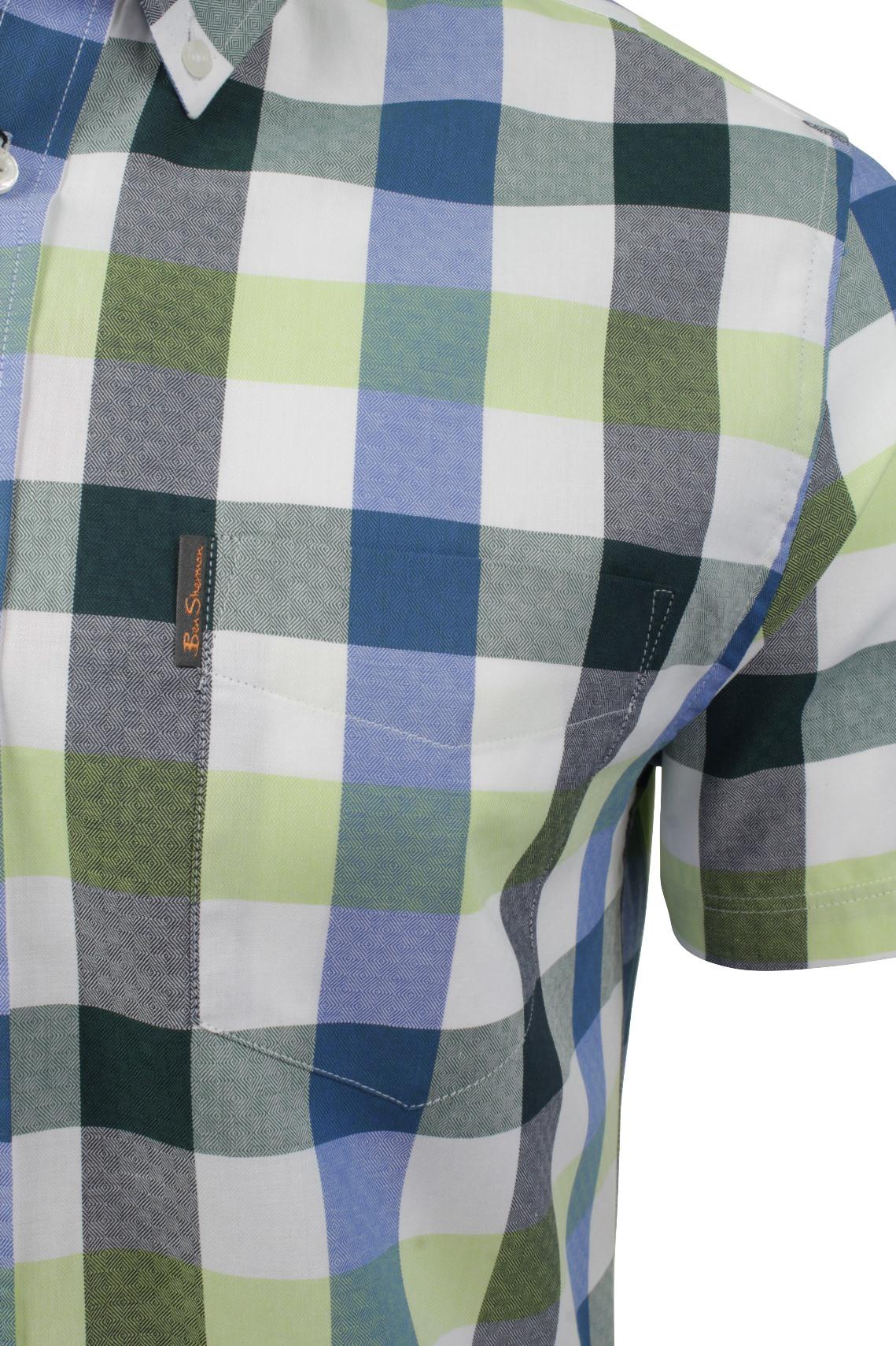 Mens-Short-Sleeved-Buffalo-Check-Shirt-by-Ben-Sherman thumbnail 3