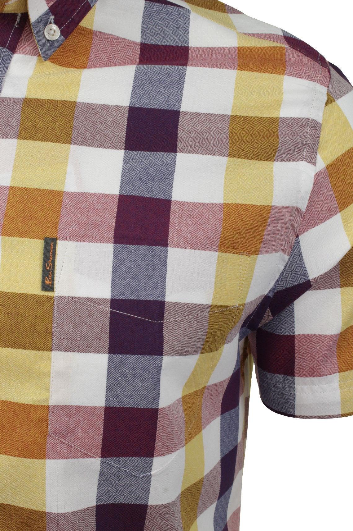 Mens-Short-Sleeved-Buffalo-Check-Shirt-by-Ben-Sherman thumbnail 6