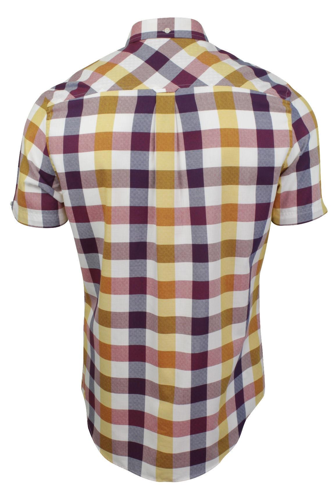 Mens-Short-Sleeved-Buffalo-Check-Shirt-by-Ben-Sherman thumbnail 7