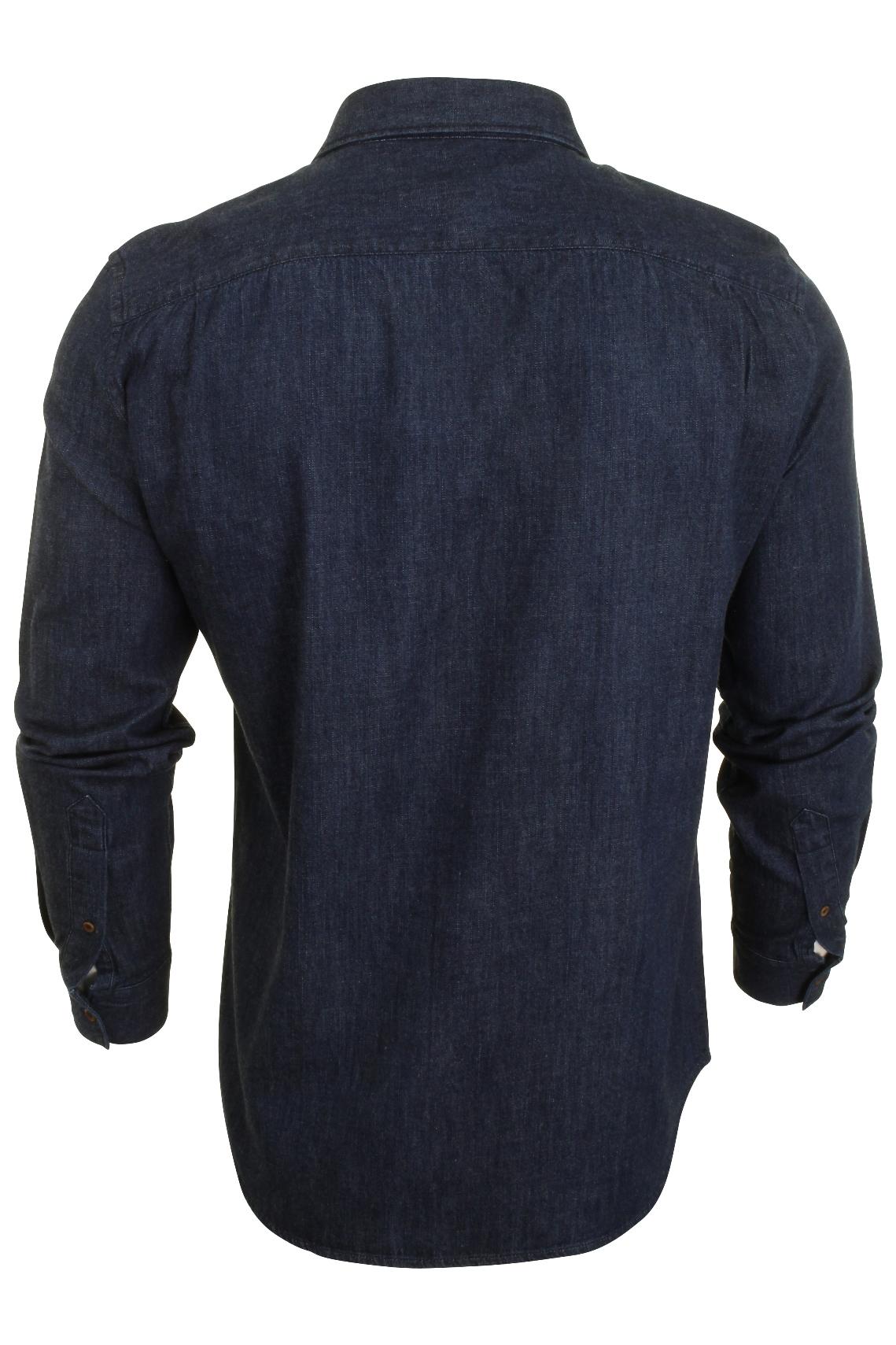 French-Connection-Mens-Denim-Shirt-Long-Sleeved thumbnail 4