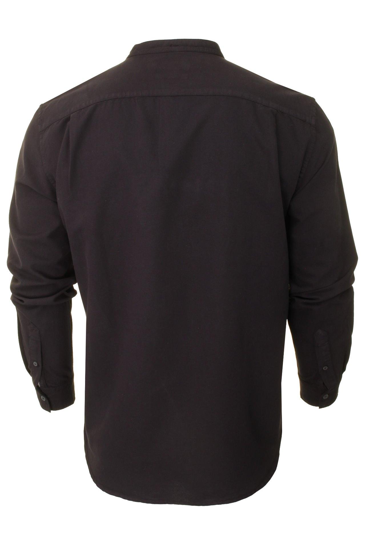 French-Connection-Mens-Oxford-Grandad-Shirt-Long-Sleeved thumbnail 4